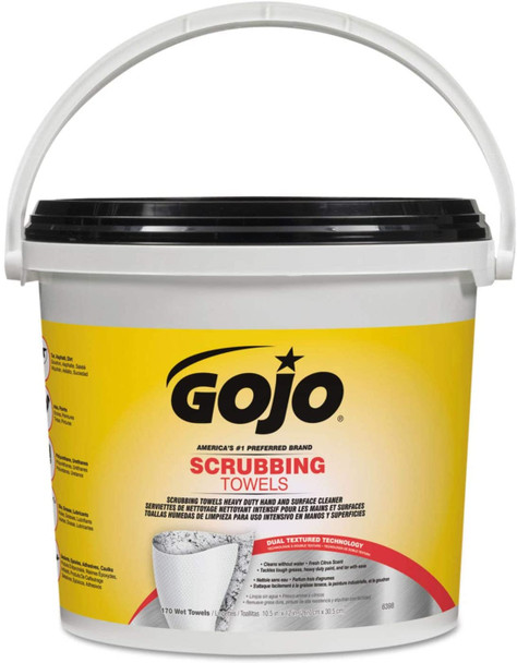 GoJo Scrubbing Wipes 170 Count