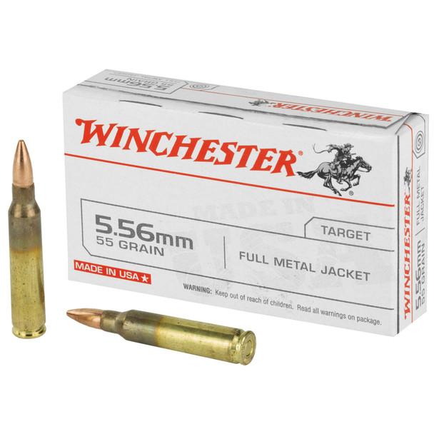 Winchester 5.56mm 55gr FMJ Ammunition 20rds
