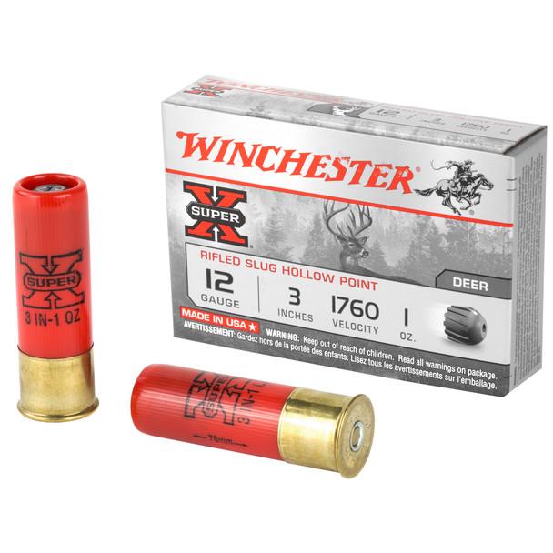 Winchester Super X 12GA Rifled Slug Ammuntion 5rd