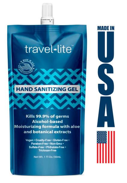 Travel Lite Pocket Hand Sanitizing Gel 70% Ethyl Alcohol 1oz 12/Pack