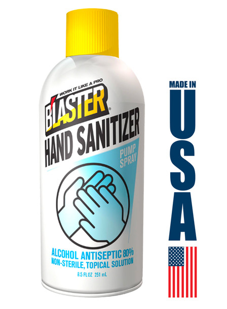 Blaster 80% Alcohol Antiseptic Hand & Surface Sanitizer 8.5oz Spray Bottle