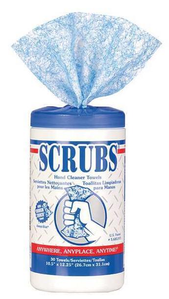 Scrubs Hand Cleaner Towels 30 Wipes