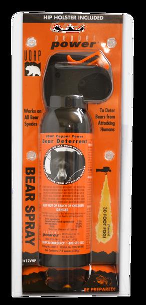 UDAP 12VHP Bear Spray w/Holster OC Pepper 30ft Range