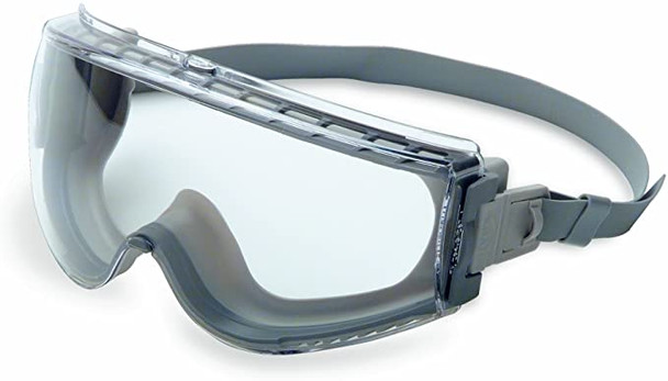 UVEX Stealth Safety Goggles with Clear Uvextreme Anti-Fog Lens, Gray Body & Neoprene Headband