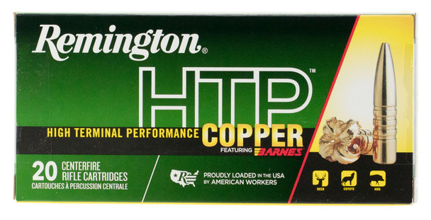 Remington 6.5 Creedmoor HTP Copper 120gr TSX Boat Tail Ammunition 20rds