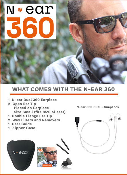 N-Ear 360 Dual Ear Earpiece w/ Snaplock Connector