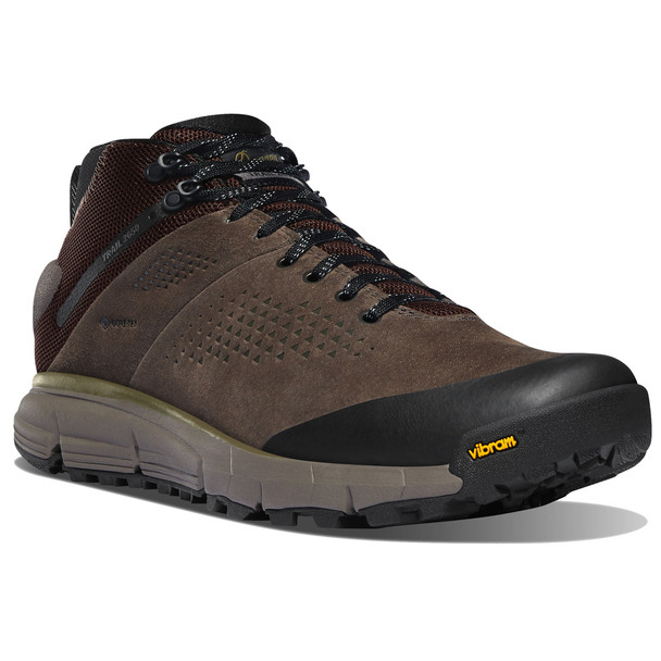 """Danner Men's Trail 2650 GTX 4"""" Mid Brown/Military Green Hiking Boots"""