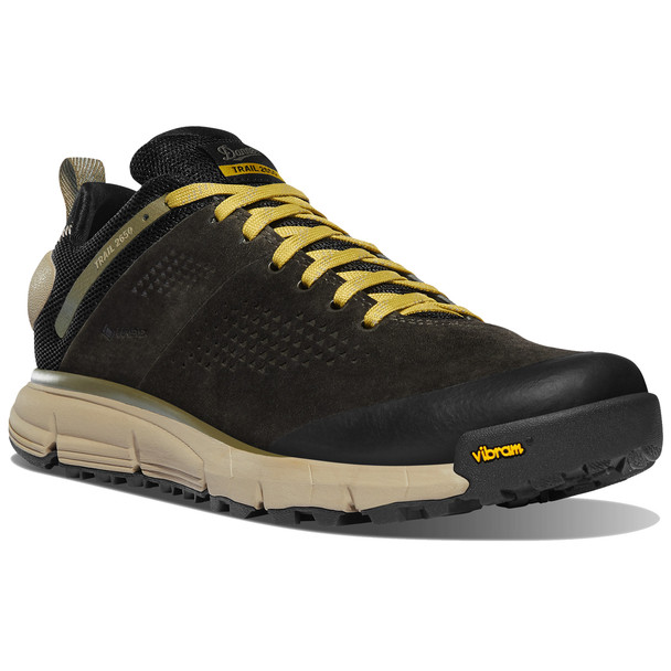 """Danner Trail 2650 GTX 3"""" Black Olive/Flax Yellow Hiking Shoes"""