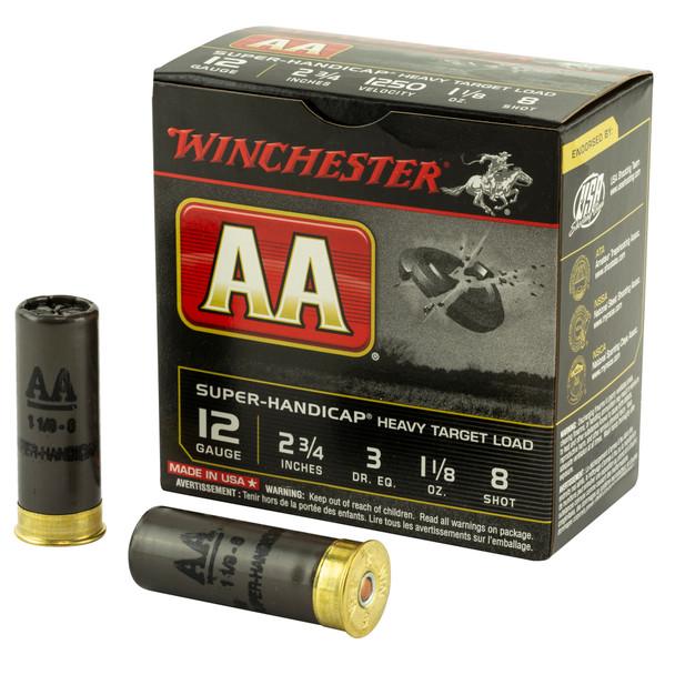 Winchester AA Super Handicap 12 Gauge 2.75 Shotshell #8 Ammunition 25rds
