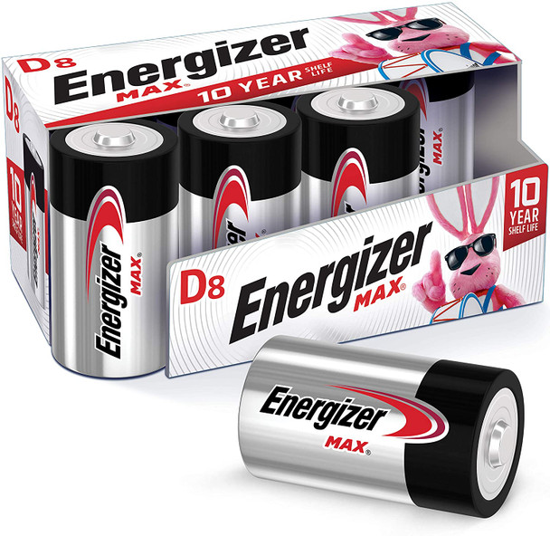Energizer MAX D Batteries 8 Pack