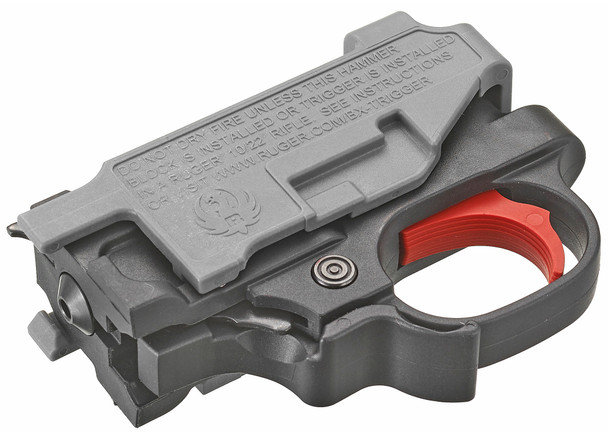 """The BX-Trigger is a light, crisp, """"drop-in"""" replacement trigger assembly that is compatible with all Ruger 10/22 rifles and 22 Charger pistols. The BX-Trigger is a Genuine Ruger Factory Accessory and is the perfect upgrade for all 10/22 rifles and 22 Charger pistol models because of the significantly reduced pull weight of approximately 2.75 lbs. The BX-Trigger is sold as a complete assembly that drops in to replace the existing trigger assembly."""