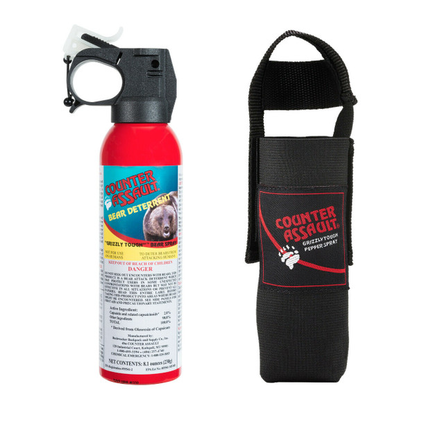 Counter Assault 8.1oz Bear Spray 32 Foot Range