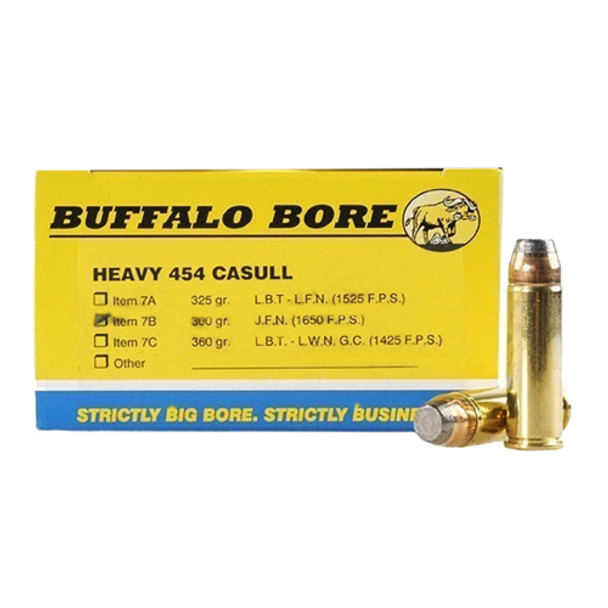 Buffalo Bore 454 Casull 300gr SJJPF  20rds