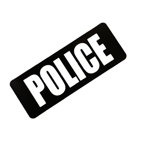 Battle Steel First Responder ID Panel POLICE Black / White