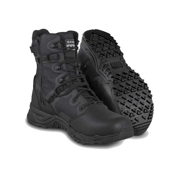 "Original SWAT 176601 Alpha Fury 8"" Polishable Toe Side-Zip Waterproof Black Boots"