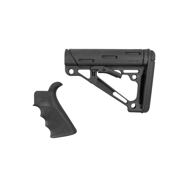 Hogue M4/AR15 Beavertail Grip & Collapsible Buttstock Kit Black