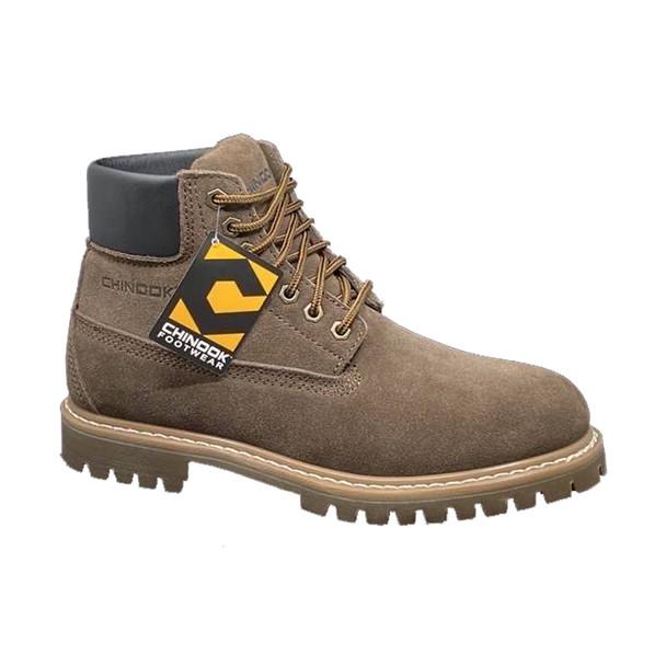 Chinook CN11 Men's Worker Suede Boots Brown