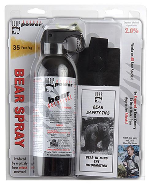 UDAP 18CP Magnum 13.4oz Bear Spray w/Chest Holster 380gr OC Pepper 35ft Range