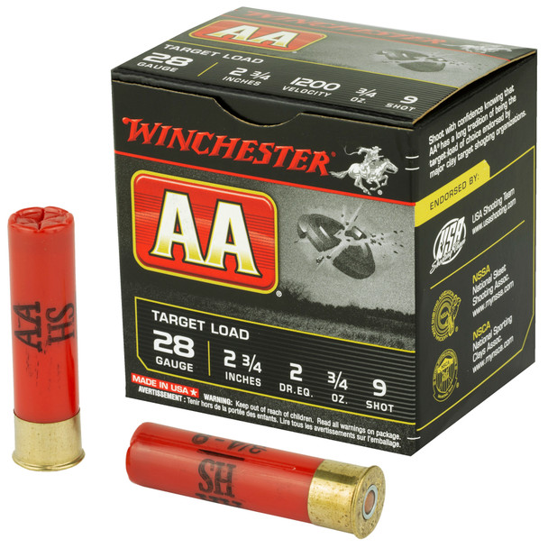 "Winchester AA Target 28 Gauge 2.75"" Shotshell Ammunition 25 Rounds"