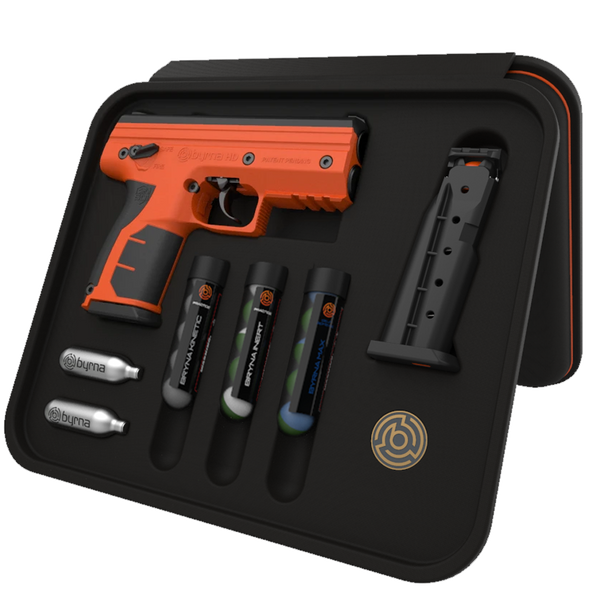 Byrna HD MAX Kit With OC/CS & Impact Rounds ORANGE