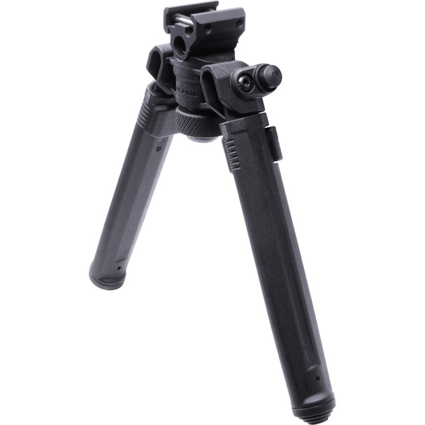 The Magpul Bipod offers serious strength and versatility at a price that provides unmatched value. Rich with important features, our lightweight Mil-spec hard anodized 6061 T-6 aluminum and injection-molded polymer bipod brings innovation in ergonomics, functionality, strength and value together. An aesthetically pleasing, low-profile design conceals its mechanisms and hardware, smoothly brushing off snags and bumps. Optimized for rapid one-handed adjustments, the bipod quickly and quietly transitions between countless user configurations. The Magpul Bipod includes many features normally found on bipods at a significantly higher cost. 1913 Picatinny Rail (MAG941)