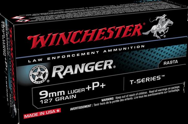 Winchester Ranger T-Series RA9TA 9mm 127GR +P+ Ammunition 50 Rounds