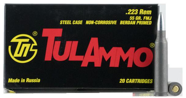Tulammo TA223550 Rifle 223 Rem 55 gr Full Metal Jacket (FMJ) 20 Bx