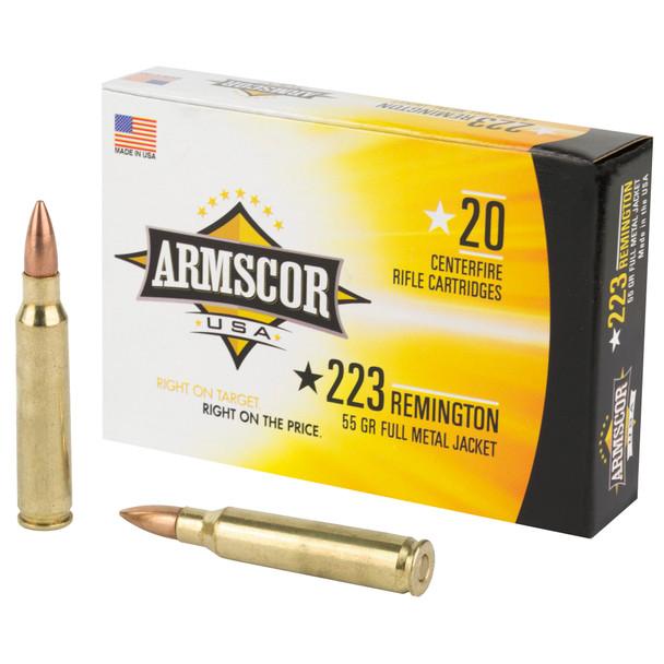 Armscor 223 Rem 55GR FMJ Ammunition 20 Rounds