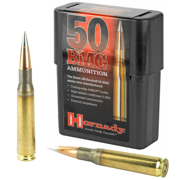 Hornady Match 50 BMG 750gr A-Max Ammunition 10rds