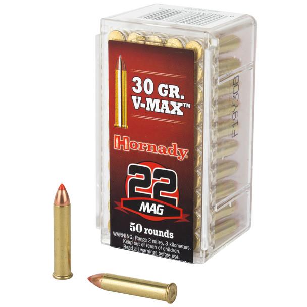 Hornady Varmint Express 22WMR 30gr V-Max Ammunition 50rds