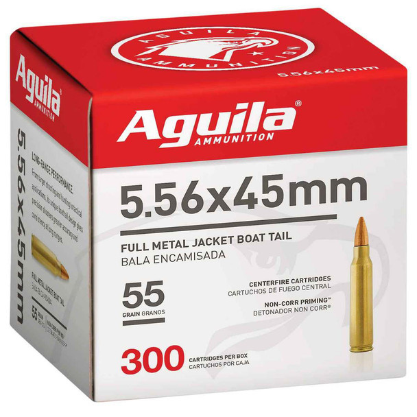 Aguila 5.56mm 55gr FMJ Ammunition 300rds