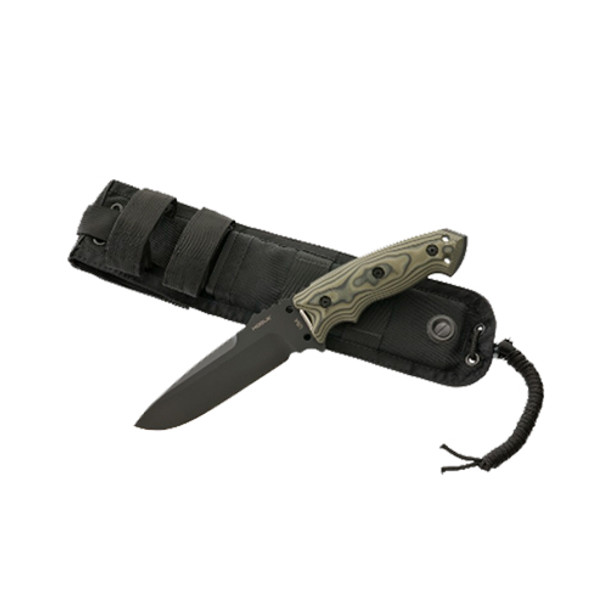 Hogue EX-F01 Combat Carbon Steel Fixed Blade Knife Green