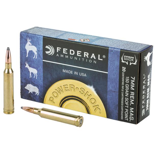 Federal Power-Shok 7mm Rem 150gr SP Ammunition 20rds