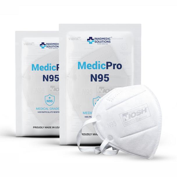 Pandmedic MedicPro N95 Medical Grade Masks 5/Pack MADE IN USA
