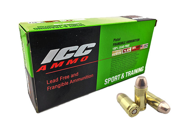 Atomic ICC 40 S&W 125GR Lead Free and Frangible Ammunition 50 Rounds