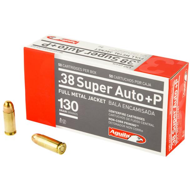 Aguila 38 Super Auto +P 130GR FMJ Ammunition 50rds