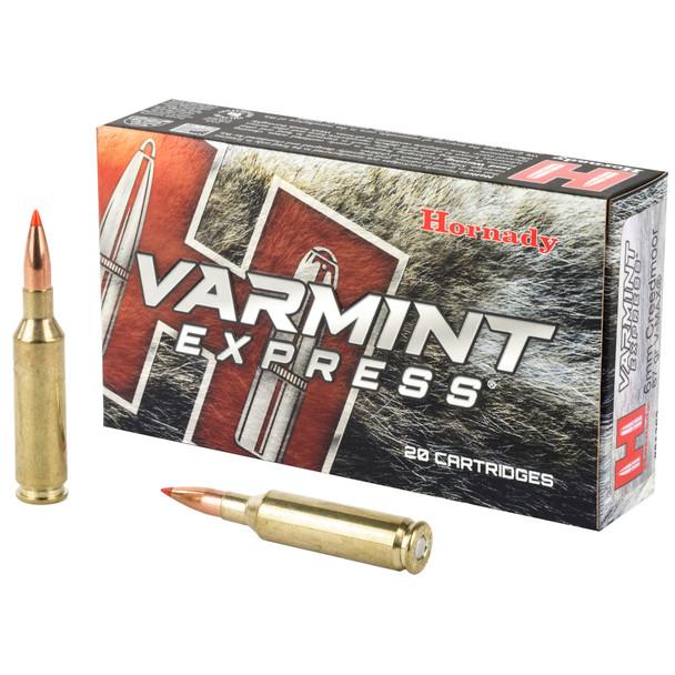Hornady Varmint Express 6mm Creedmoor 87gr V-Max Ammunition 20rds