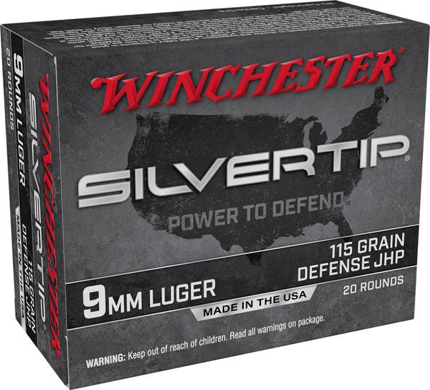 Winchester 9mm 115GR JHP Silvertip Ammunition 20rds