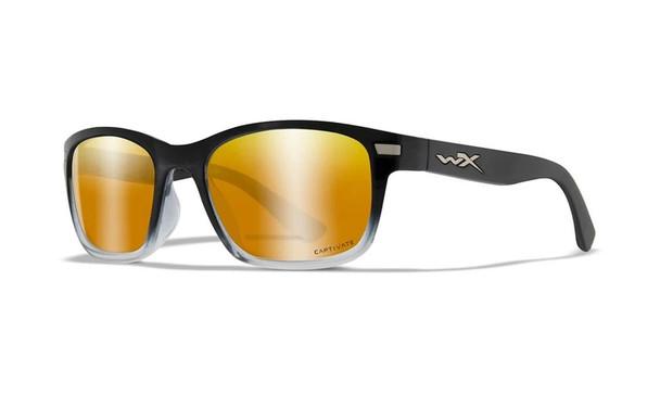 Wiley X Helix Captivate Polarized Bronze Mirror/Gloss Black Sunglasses