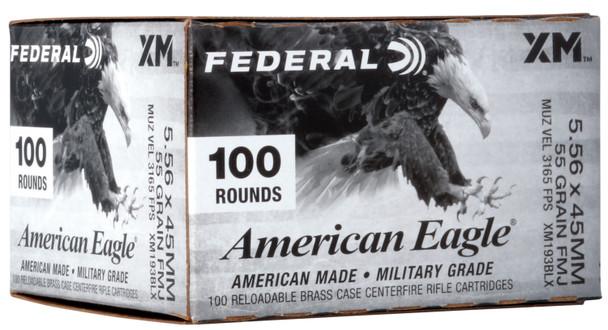Federal 5.56mm 55gr FMJBT Ammunition 100rds