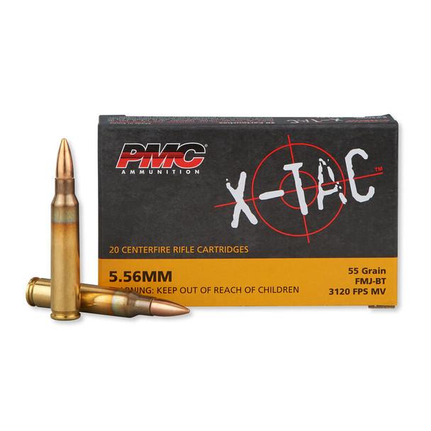 PMC 556X X-Tac 5.56mm 55gr FMJ Boat-Tail Ammunition 20rds