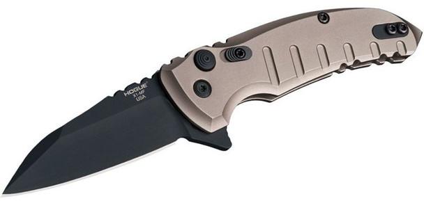 "Hogue X1-Microflip Manual Flipper 2.75"" Wharncliffe Blade FDE"