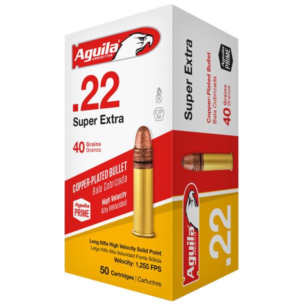 Aguila Super Extra 22LR 40gr Copper-Plated SP Ammunition 50rds