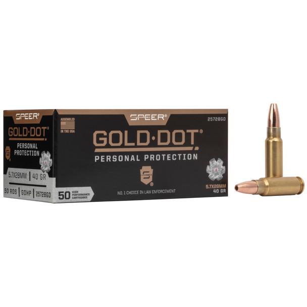 Speer Gold Dot 5.7x28mm 40GR HP Ammunition 50rds