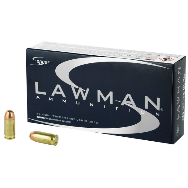 Speer Lawman 380ACP 95GR TMJ Ammunition 50rds