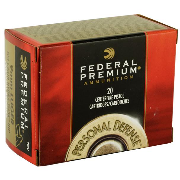 Federal Premium Personal Defense 9mm 124gr Hydra-Shok JHP Ammunition 20rds