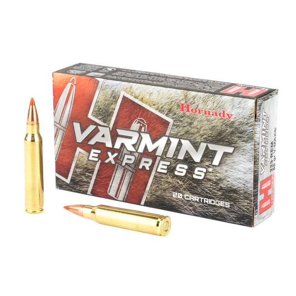 Hornady Varmint Express .223 Remington 55gr V-Max Ammunition 20rds