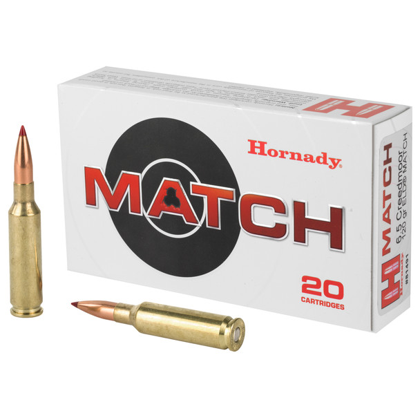Hornady Match 6.5 Creedmoor 120GR Extremely Low Drag Ammunition 20 Rounds