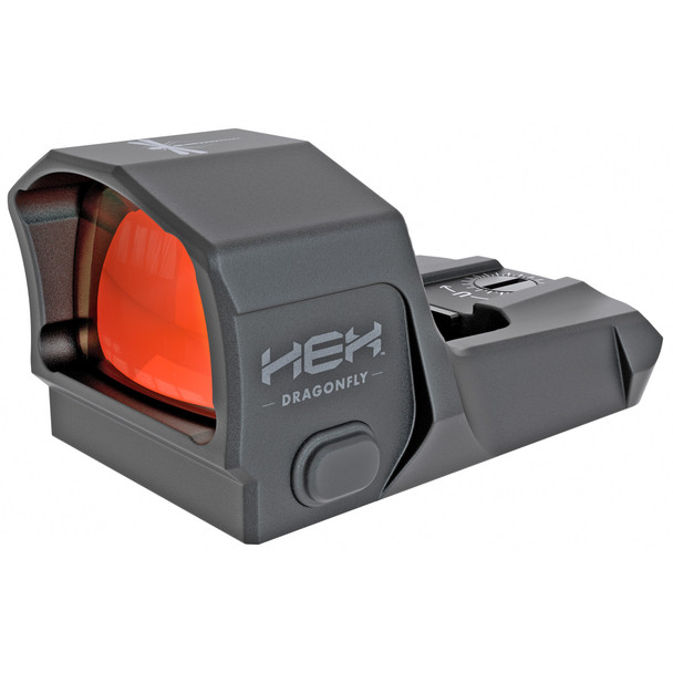 The HEX™ Dragonfly™ is our most versatile reflex sight and is perfectly suited for pistol, rifle, and shotgun applications. Manual brightness adjustment of the 3.5 MOA dot offers maximum control and the 16 hour auto-off feature prevents your battery from draining if you accidentally leave it on. Precision machined from 6061 T6 Hardcoat anodized aluminum and outfitted with a scratch resistant, anti-glare glass lens, the HEX Dragonfly is a durable, standard size reflex red dot that delivers lightning-fast target acquisition and faster follow up shots.