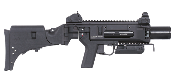 The HK169 was developed by Heckler & Koch as a state of the art successor of the well-known HK69 to meet all the requirements for modern warfare or law enforcement applications. The 40 mm LV stand alone grenade launcher is very effective against lightly armoured point and area targets at ranges up to 350 m. In its role as a less lethal launcher the HK169 is ideally suited for all types of law enforcement tasks.